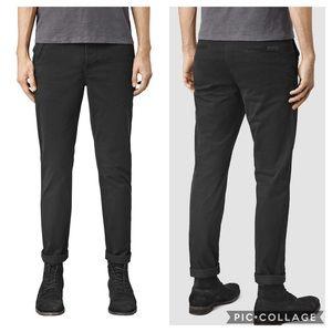AllSaints Stove Slim Fit Chinos black size 30